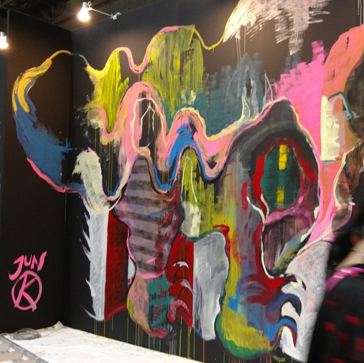Giant live painting wall