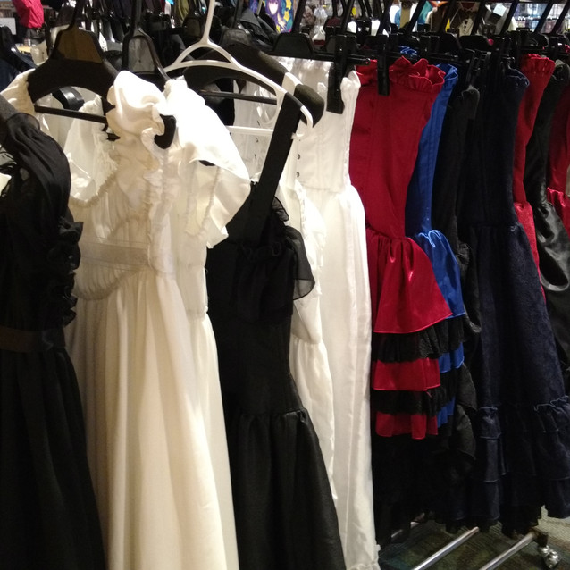 The other view of the lovely dresses.