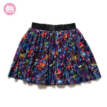 6%DOKIDOKI - Neon Spectrum Flared Skirt