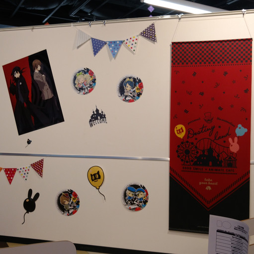 The wall infront of my table had posters and stickers all over it!