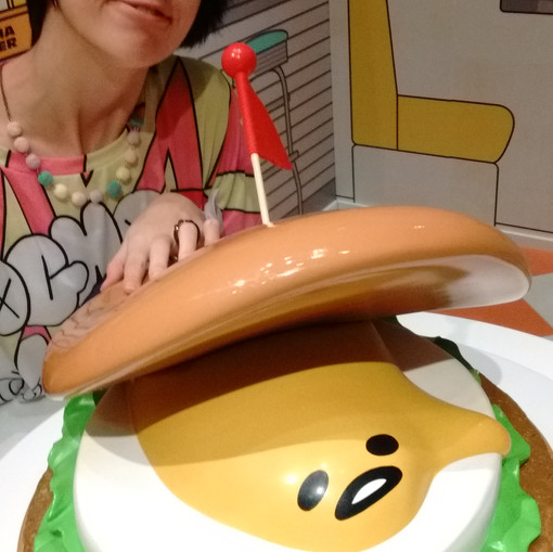 Giant Gude burger!! He wants to escape!