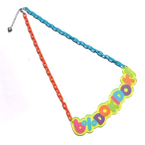 6%DOKIDOKI - Vivid Logo Plate Necklace