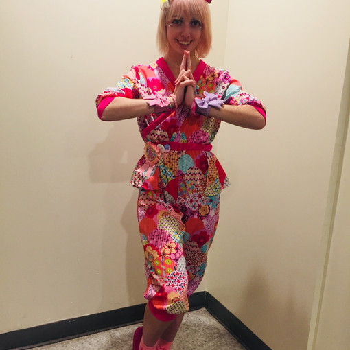 Danced at a local event called Idol Revolution and I made this costume for myself, which was inspired by Ninjari Bang Bang!! I had such a great time!