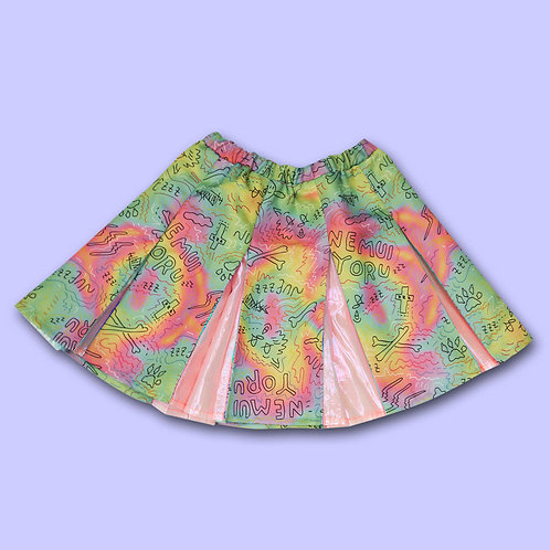 NUEZZZ - Rough Sketch All-Over Print Cheer Skirt
