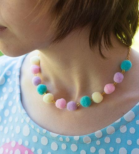 Pompoji's Bubblegum Ball Necklace