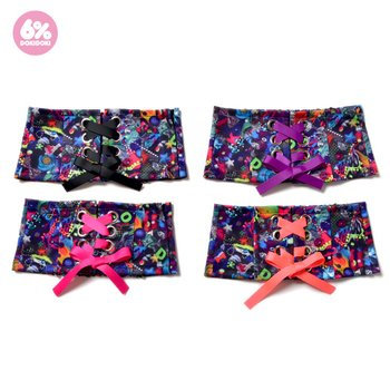 6%DOKIDOKI - Neon Spectrum Lace-Up Belt