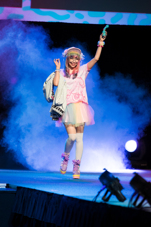 NUEZZZ x GHOST GiRL GOODS Collab Fashion Show at Tekko 2019 J Fashion Japanese Brand colorful kammiepomeranian