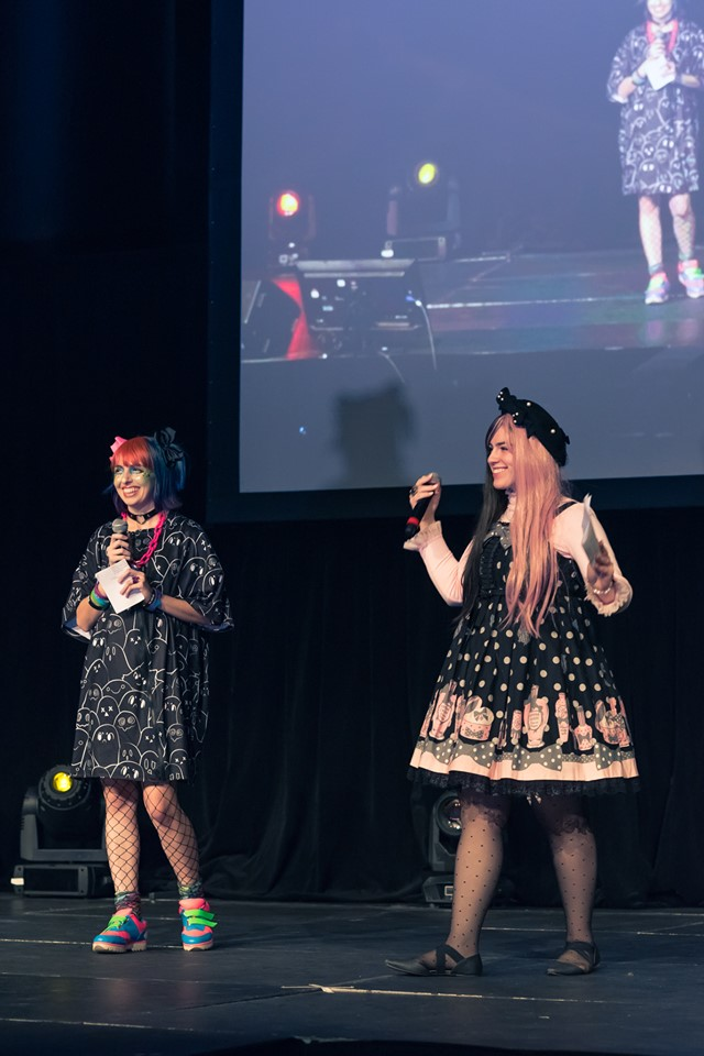 Me and the other MC on stage!