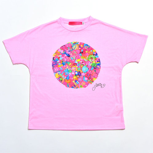6%DOKIDOKI - Colorful Rebellion/Gravity Pink T-Shirt