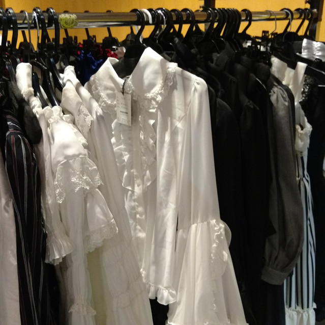 There were even some petticoats and blouses being sold.