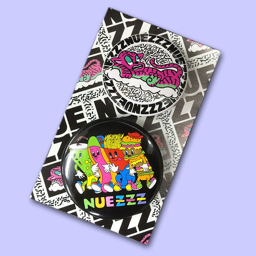 NUEZZZ - Button Badge Set