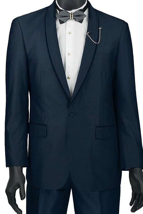 Slim Fit Sharkskin Dress Suit