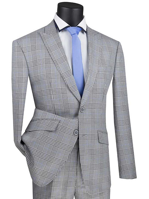 S2RW-1 Slim Fit Suit with Peak Lapel and Stretch Armhole