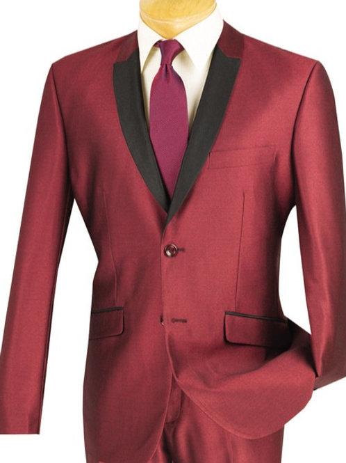 Slim Fit Sharkskin Dress Suit
