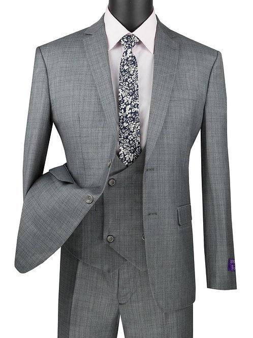 Mens Slim Fit 3PC with Swoop Vest Dress Suit