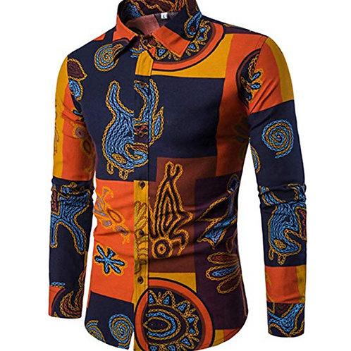 Mens Stylish Floral Long Sleeve Shirt & Short Sleeve Shirt