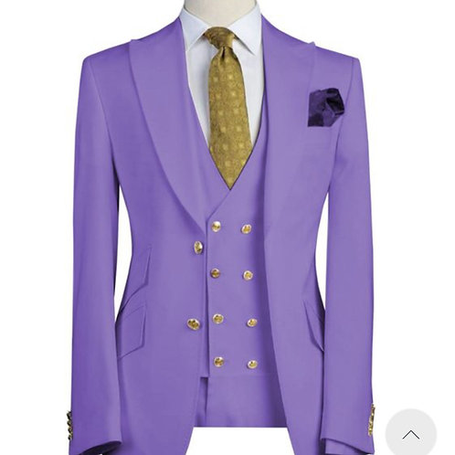 Purple Reign with Double Breasted Vest