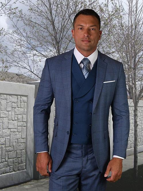 Men's 3PC Wool Suit with Lapel Style Vest