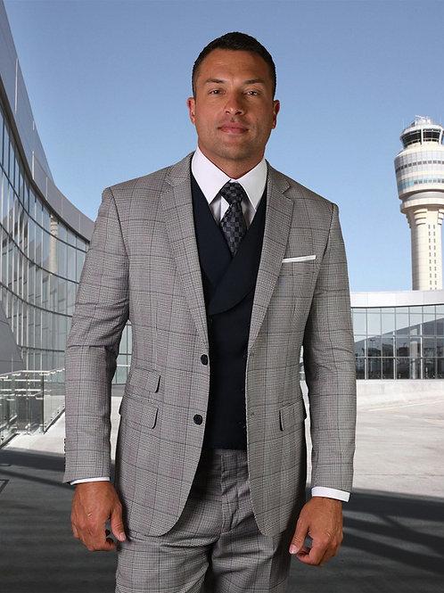 Men's 3PC Wool Suit with Lapel Vest