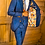 Thumbnail: Men's CEO Blue Plaid Custom Suit