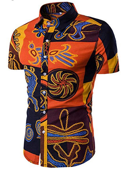 Mens Stylish Floral Short Sleeve Shirt
