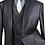 Thumbnail: Men's Modern Fit 3PC Dress Suit