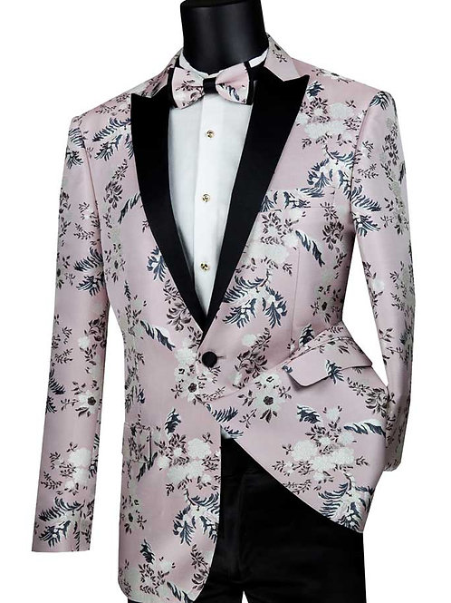 BSF-14 Single Breasted 1 buttons, Slim fit Floral Sport Coat