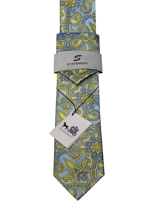 2PC WOVEN TIE AND HANKIE SET. HANKIE