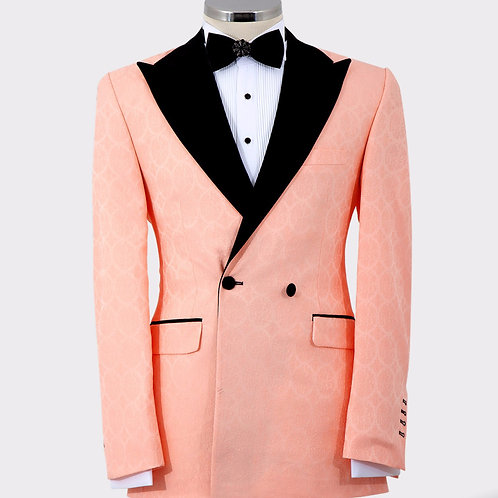 Peach Tux with Wide Lapel