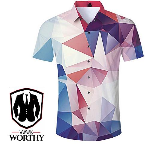 Men's Button Down Hawaiian Shirt