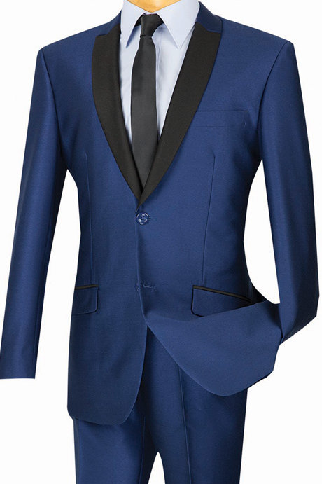 Slim Fit Sharkskin Suits
