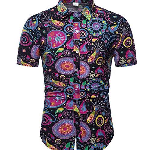 Mens Stylish Floral Short Sleeve Shirt