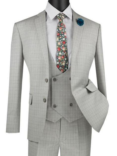 Mens Slim Fit 3PC with Swoop Vest