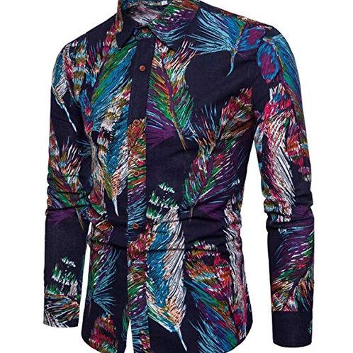 Mens Stylish Floral Long Sleeve Shirt