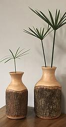 Vase bois de manguier naturel