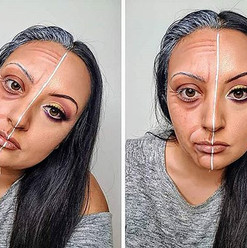 Old Age Half Glam By Reena Parmar ProArtist