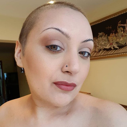 Who knew the shaven head look would suit me!