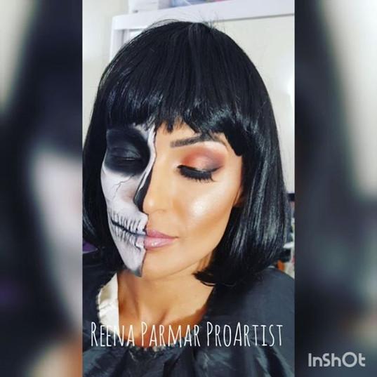 Half Skull Half Glam By Reena Parmar ProArtist