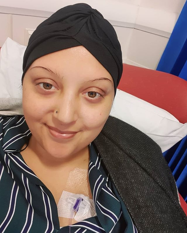CHILLING WITH MY LAST CHEMO