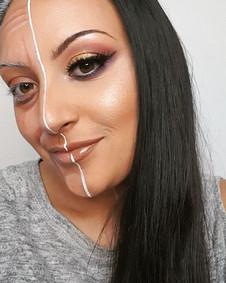 Half Glam Half Old - Ageing Makeup