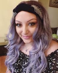 Lilac Hair Vintage Waves