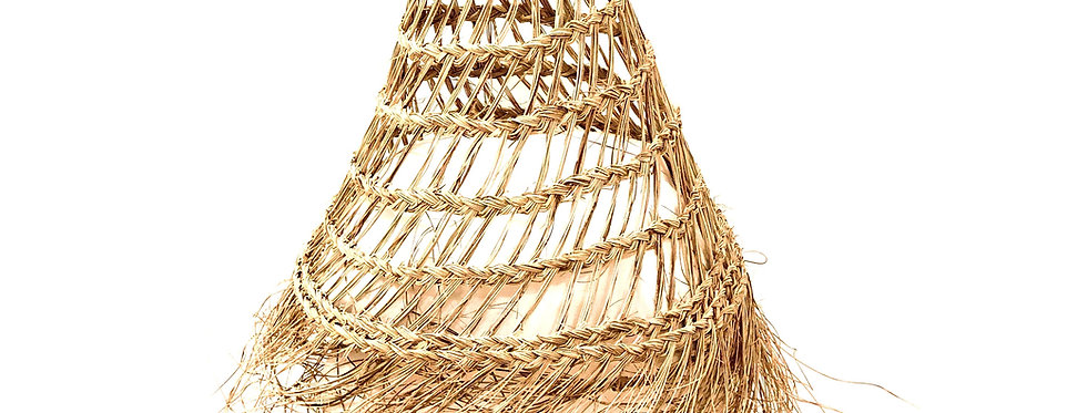 Loosely-Woven Straw Lampshade