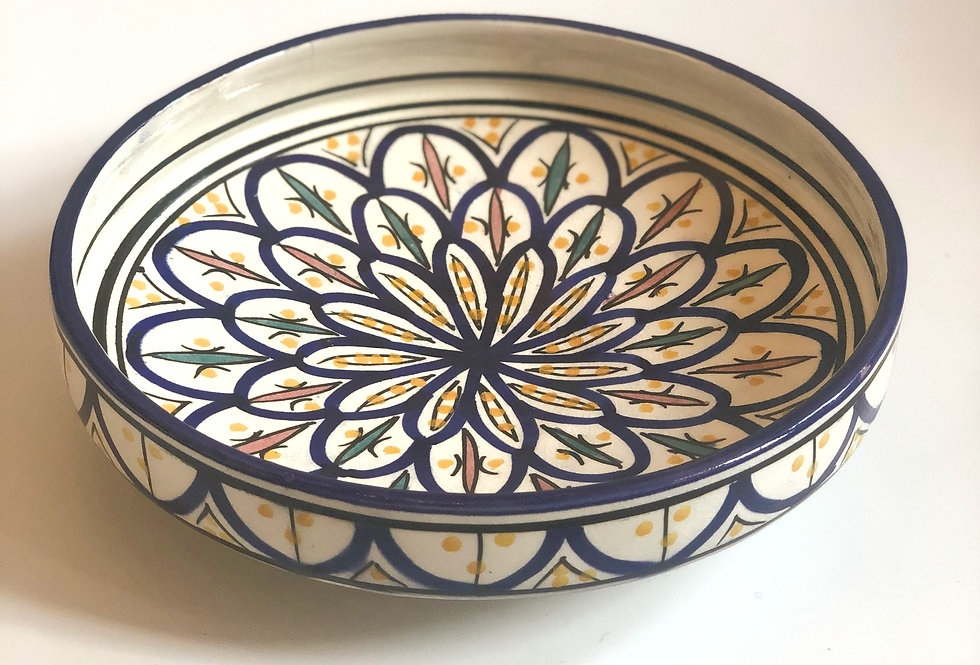 Blue Painted Serving Plate