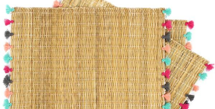 Bamboo Table Placements - Set of 4