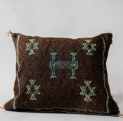 Brown Sabra Moroccan Pillow