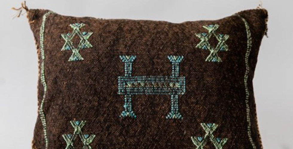 Brown Sabra Throw Pillow