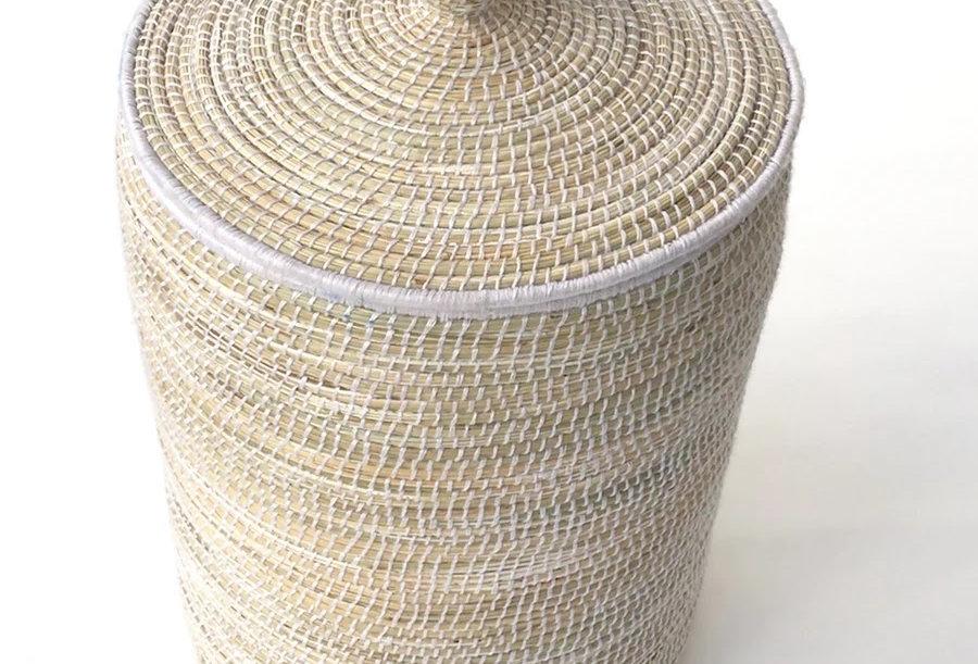 Handwoven Natural Straw Basket