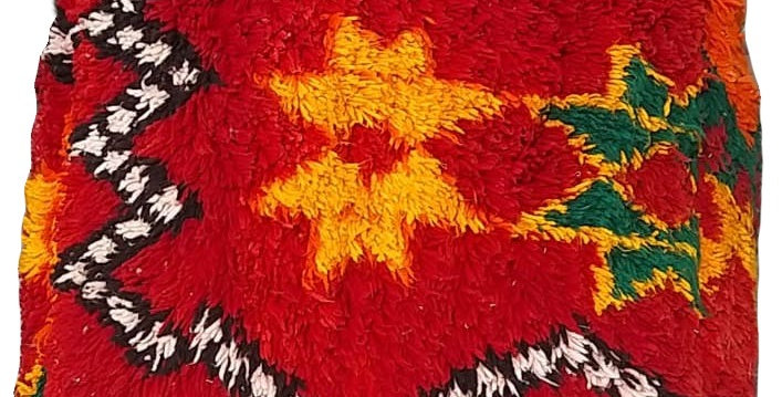 Colorful Square Berber Pouf