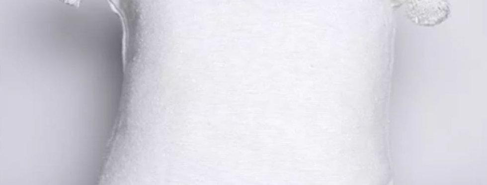 White Pompom Pillow