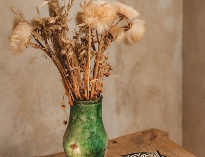 Handmade Moroccan Tamegroute Vase